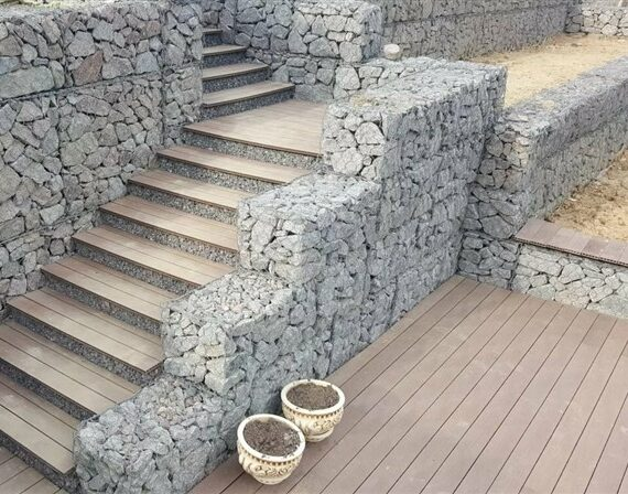 Decorative Gabion Steps: Redesign & Expand Your Garden